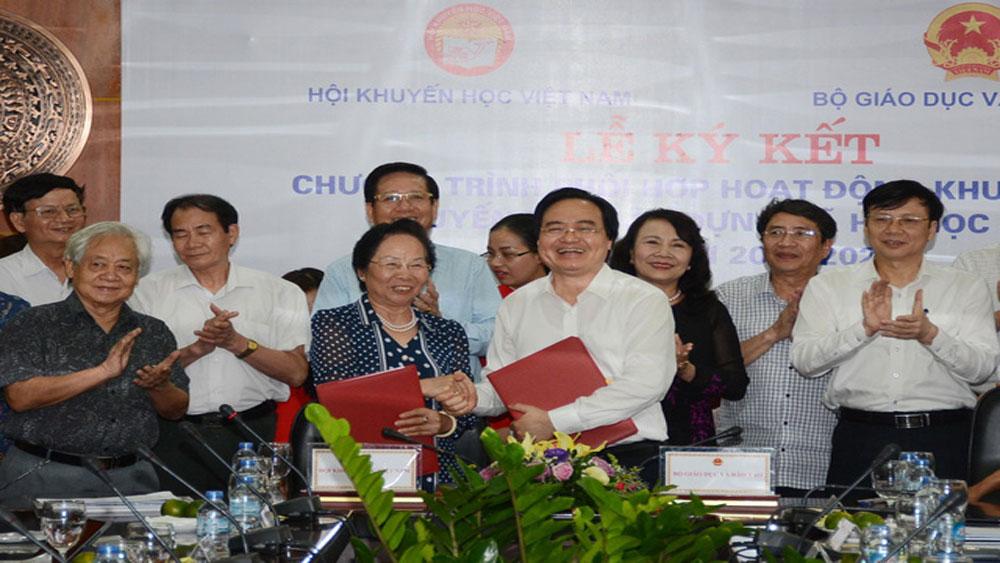 Bộ GD-ĐT, Hội Khuyến học Việt Nam, kí kết, phối hợp, xây dựng, Xã hội, học tập