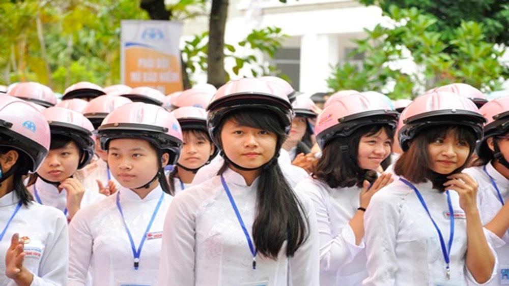 """Học sinh, sinh viên, hưởng ứng, """"Tháng hành động an toàn giao thông"""""""