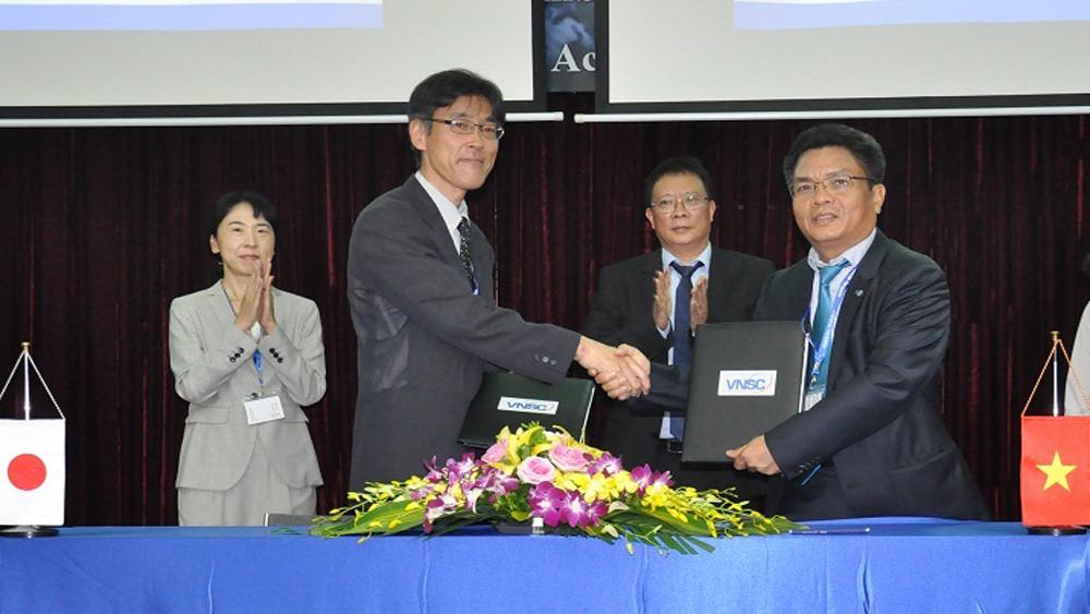 Việt Nam, Nhật Bản, hợp tác, trao đổi, dữ liệu, vệ tinh