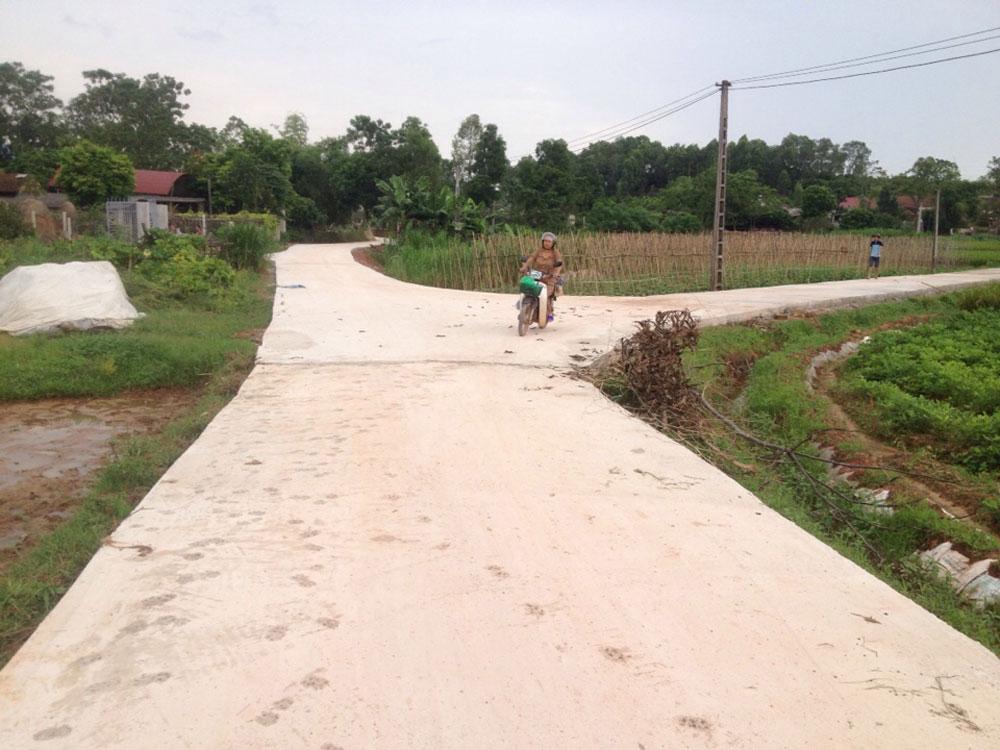 Đường làng, thay áo mới, hệ thống giao thông