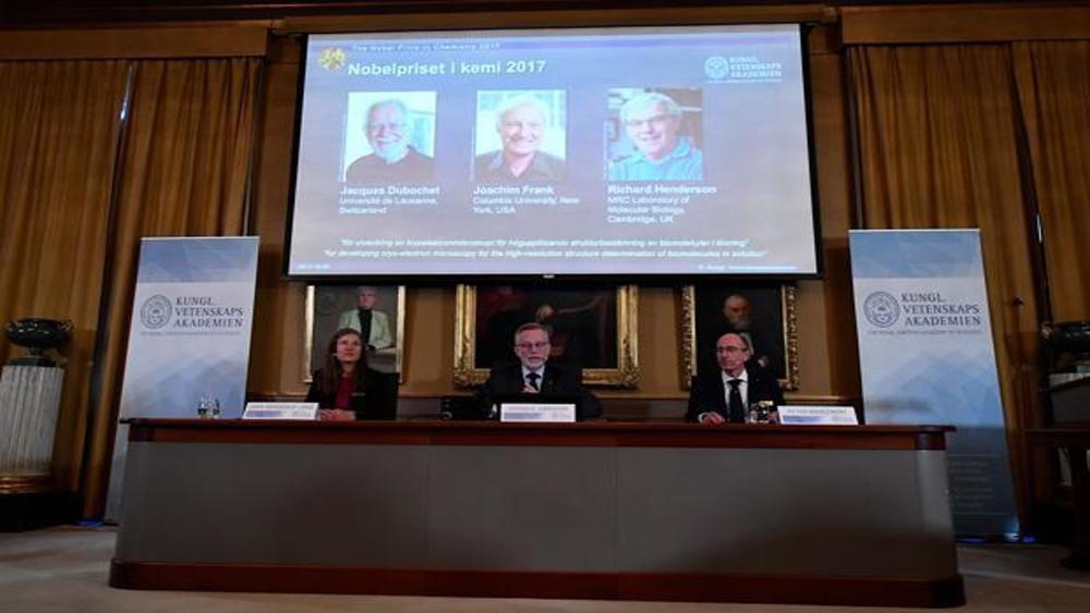 Giải Nobel Hóa học, 2017, nhà khoa học, Thụy Sĩ, Mỹ, Anh