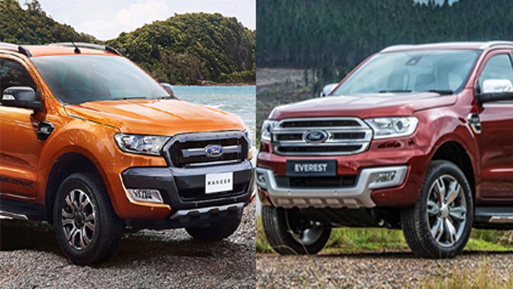 Triệu hồi, ô tô, Ford Ranger, Everest, Việt Nam, lỗi, túi khí