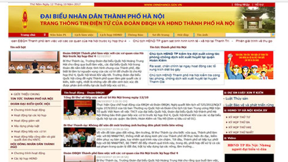Cử tri, Hà Nội, kiến nghị, trang thông tin điện tử