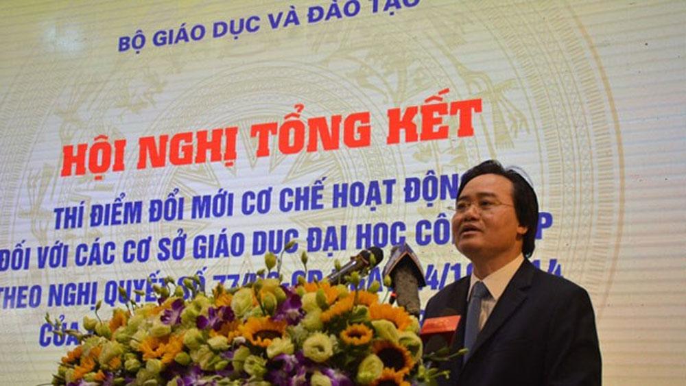 Bộ trưởng Phùng Xuân Nhạ, tự chủ, đại học, hạn chế