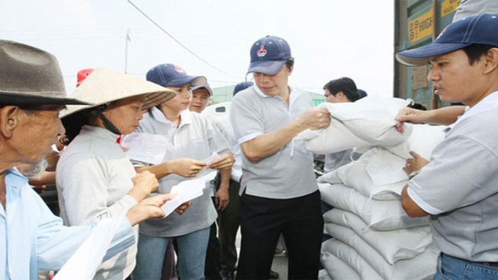 Xuất cấp gạo, 2 tỉnh, lũ lụt