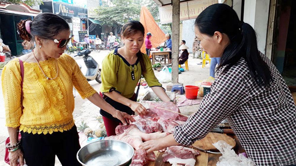 Giá lợn hơi, giảm 4 đến 5 nghìn đồng/kg, tiêu thụ lợn sạch, Tân Yên