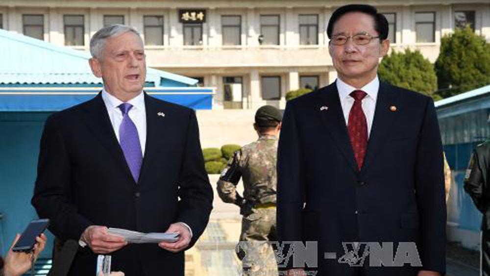 Bộ trưởng quốc phòng Mỹ, Hàn Quốc, thảo luận, vấn đề, hạt nhân, Triều Tiên