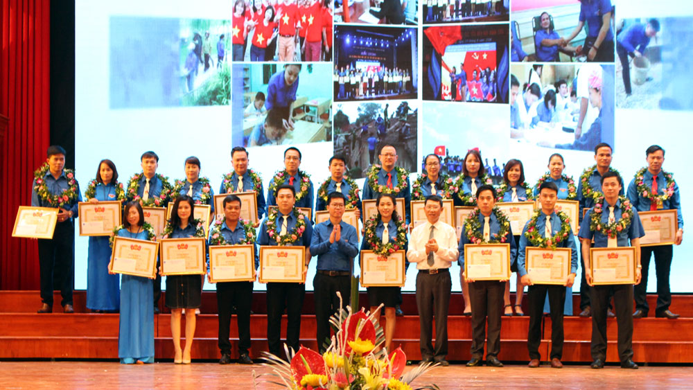 Đoàn thanh niên , khối các cơ quan tỉnh, TP phía Bắc, Tuyên dương, 50 cán bộ, đoàn viên , xuất sắc