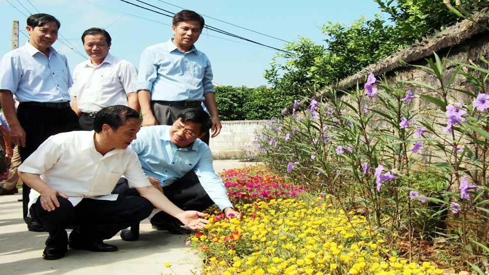 Đoàn công tác, Yên Bái, khảo sát, xã nông thôn mới, Hồng Giang, Lục Ngạn