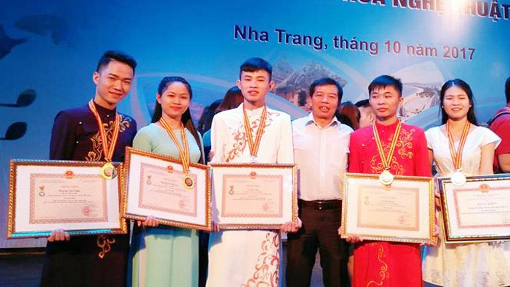 Bắc Giang, giành 3 HCV , Hội thi tài năng văn hóa nghệ thuật, học sinh, sinh viên, toàn quốc